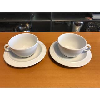 アレッシィ(ALESSI)のアレッシィ Alessi BAVERO ティー カップ&ソーサー ホワイト(食器)