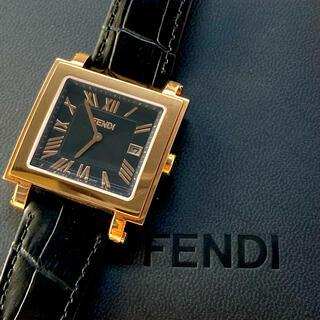 フェンディ(FENDI)のFENDI フェンディ クアドロ 007-60500G 腕時計 メンズ クォーツ(腕時計(アナログ))