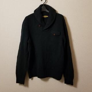 ラルフローレン(Ralph Lauren)の美品ラルフローレン ラグビーMLウールニット アメカジ レザーパッチワーク(ニット/セーター)