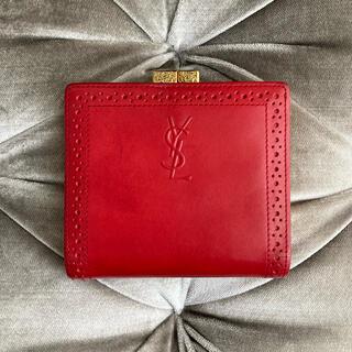 サンローラン(Saint Laurent)のイヴ・サンローラン ❤️ ヴィンテージ がま口 折り財布(財布)