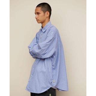 BEAMS - A.H × SSZ × BEAMS ビックシャツ ライトブルー ストライプ ah
