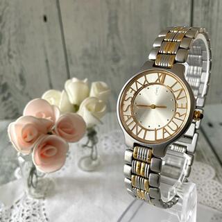 サンローラン(Saint Laurent)の【電池交換済み】Yves Saint Laurent 腕時計 ゴールド ラウンド(腕時計)