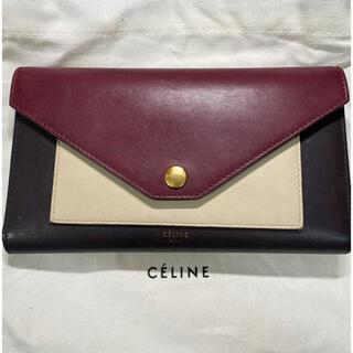 celine - CELINE エンベロップ型長財布ボルドー