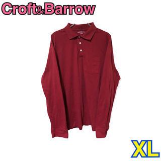 292 USA 古着 Croft&Barrow 長袖 ポロシャツ XL