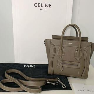 celine - 美品 CELINE セリーヌ ラゲージ ナノ スリ