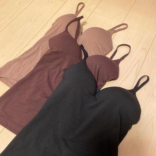 GU - GU★カップ付きキャミソール★ほぼ新品★3色セット★インナー★Sサイズ