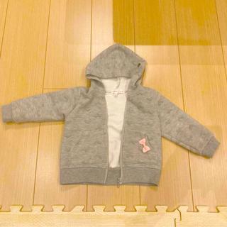 サンカンシオン(3can4on)のパーカー フード 羽織り 80 女の子(ジャケット/上着)