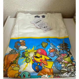 ポケモン(ポケモン)のマリオ ピカチュウ コラボTシャツ(Tシャツ/カットソー(半袖/袖なし))