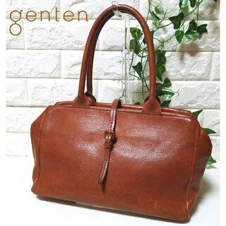ゲンテン(genten)の【美品】genten ゲンテン トスカ トートバッグ ハンドバッグ 牛革(ハンドバッグ)