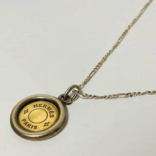 Hermes - HERMES エルメス セリエ k18 コイン ネックレス ゴールド