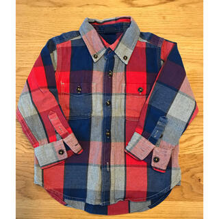 ベビーギャップ(babyGAP)のベビーギャップ  チェックシャツ 95センチ 2歳用(ブラウス)