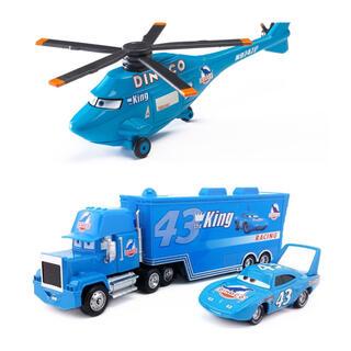 Disney - 【新品】カーズ  ダイナコ トレーラー ミニカー  ヘリコプター 3点セット