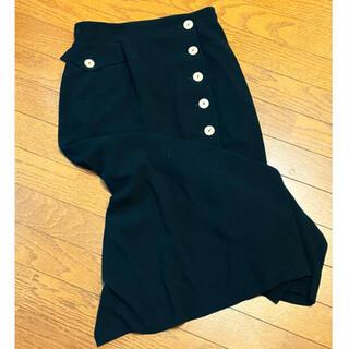 ロキエ(Lochie)の古着 スカート ヴィンテージ ロングスカート ブラック 昭和 レトロ (ロングスカート)