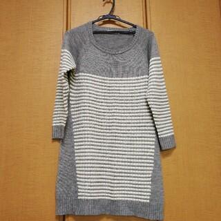ショコラフィネローブ(chocol raffine robe)のショコラフィネローブのニットワンピース!(ひざ丈ワンピース)