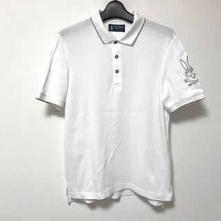 定1.5万 サイコバニー 銀ラメ糸ビッグスカルバニー刺繍コットンポロシャツM
