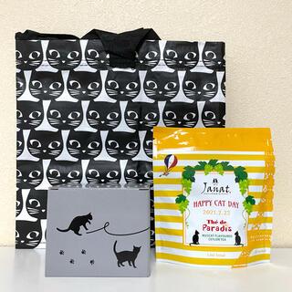 IKEA - カルディ★ネコの日。キャニスター&紅茶&イケア★バッグセット。猫の日。ネコバッグ