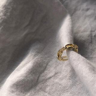 """ビューティアンドユースユナイテッドアローズ(BEAUTY&YOUTH UNITED ARROWS)のN-106 gold ear cuff """"紡ぐ""""(イヤーカフ)"""