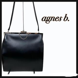 agnes b. - 【激レア】agnes b. アニエスベー バッグ がま口 レザーバッグ