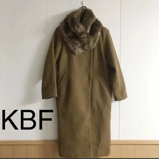 ケービーエフ(KBF)のKBF*ティペット付きコクーンロングコート(ロングコート)