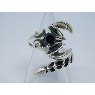 美品 11号 silver925製 スコーピオン リング オニキス フリーサイズ(リング(指輪))