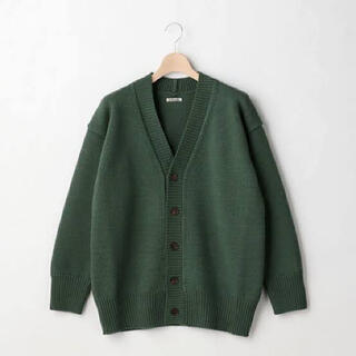 COMOLI - AURALEE Felt Wool Yarn Knit Cardigan