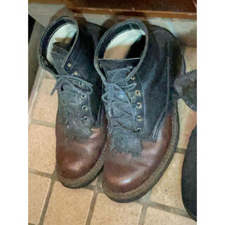 ウエスコ(Wesco)のホワイツmセミドレス 黒茶 ツートーン 9 27〜28(ブーツ)