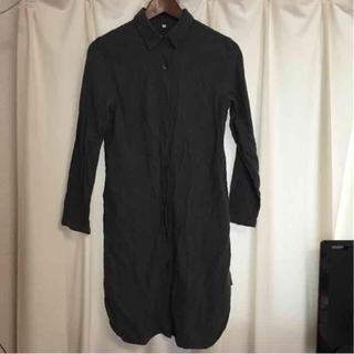 ムジルシリョウヒン(MUJI (無印良品))の無印良品 シャツ ワンピース S チャコールグレー(ひざ丈ワンピース)