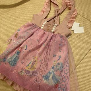 しまむら - エコネコ 110 ワンピース ジャンパースカート