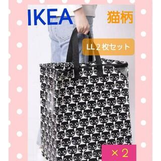 IKEA - 新品 IKEA イケア♪新商品☆猫柄 収納バッグ2個セット♪IKEA