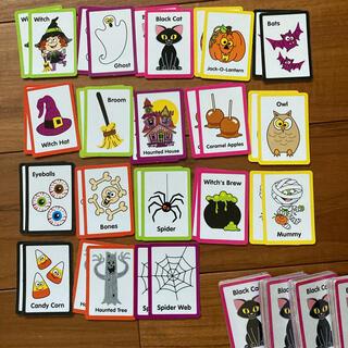 新品 ☆ ハロウィン メモリー カード ゲーム 神経衰弱 ビンゴ 5セット