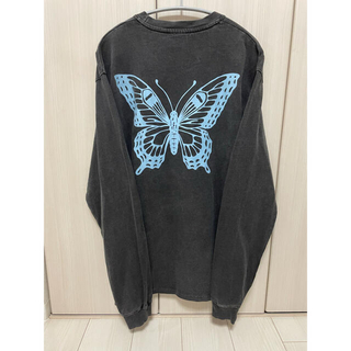 Supreme - Girls Don't Cry BUTTERFLY tee ロンT ブラック M