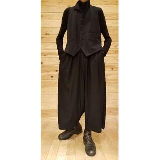 Yohji Yamamoto - yohjiyamamoto 超ワイドウールギャバパンツ  袴パンツ