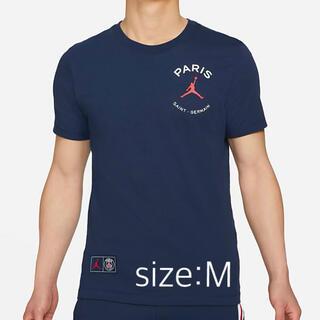 NIKE - NIKE JORDAN  PSG Tシャツ ネイビー sizeM 未開封