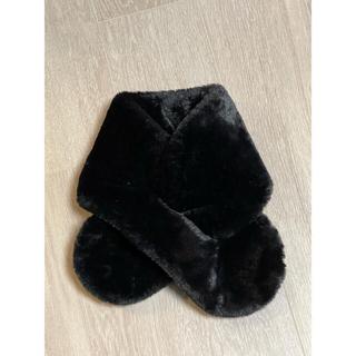 黒色 ふわもこマフラー とにかく肌触り良いです!未使用に近い美品♪(マフラー/ショール)