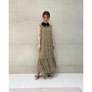 GRACE CONTINENTAL - グレースコンチネンタル21年AW新品紙タグ付き!衿刺繍ティアードワンピースドレス