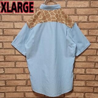 XLARGE - X-LARGE エクストララージ キリン 柄 ワンポイント ロゴ 半袖 シャツ