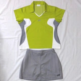 YONEX - YONEX テニスウェア上下セット Mサイズ 黄緑 灰色 グレー