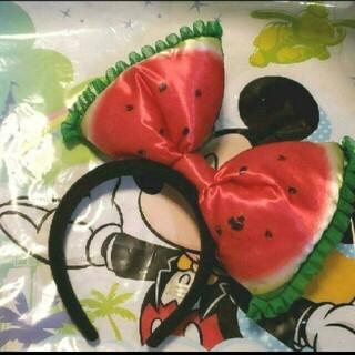 ミニーマウス(ミニーマウス)の美品 ディズニーリゾート限定 フルフルフルーツ ミニーマウス カチューシャ(キャラクターグッズ)