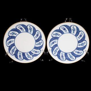 大倉陶園 - 【高級 2枚セット 送料込み】大倉陶園 呉須更紗 ケーキプレート 金彩