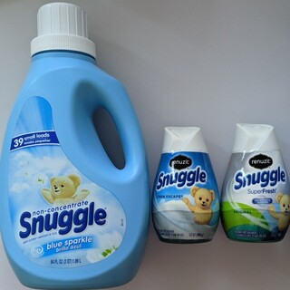 Snuggleスナッグル 柔軟剤 ブルースパークル 1本 リナジット セット(洗剤/柔軟剤)