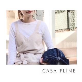イエナ(IENA)の値下げ【新品】CASA FLINE ニットワインディングビスチェ(ベスト/ジレ)