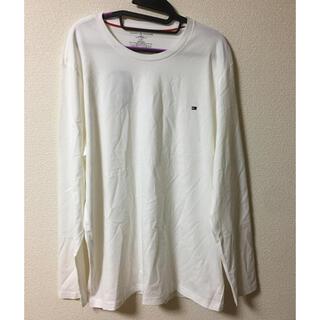 トミーヒルフィガー(TOMMY HILFIGER)のトミーヒルフィガー ワンポイント ロンt 白 タグ付き 新品未使用(Tシャツ/カットソー(七分/長袖))
