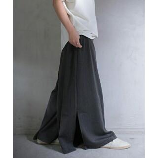 アンティカ(antiqua)のアンティカ スリット入り ロングスカート見え ワイドパンツ ガウチョ(その他)