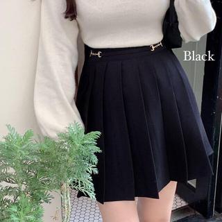 STYLENANDA - 【予約商品】《2カラー》バックル プリーツ スカート 韓国ファッション 秋服