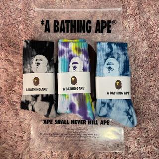 A BATHING APE - アベイシングエイプソックス