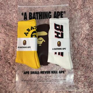 アベイシングエイプ(A BATHING APE)のアベイシングエイプソックス、BAPE靴下(ソックス)