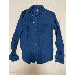 H&M - シャツ H&M 長袖 紺色 値下