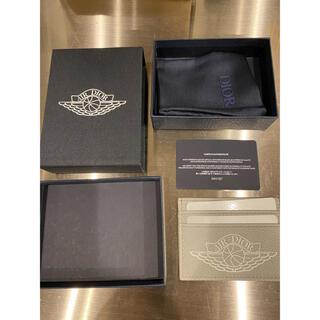 ディオール(Dior)のAIR DIOR ジョーダンコラボ カードケース グレー(名刺入れ/定期入れ)