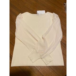 プロポーションボディドレッシング(PROPORTION BODY DRESSING)の新品タグ付き プロポーションボディドレッシング 袖シアーニット(ニット/セーター)