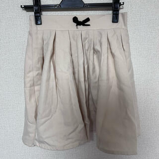 アンクルージュ(Ank Rouge)のankrouge アンクルージュ スカート アイボリー 黒リボン(ミニスカート)